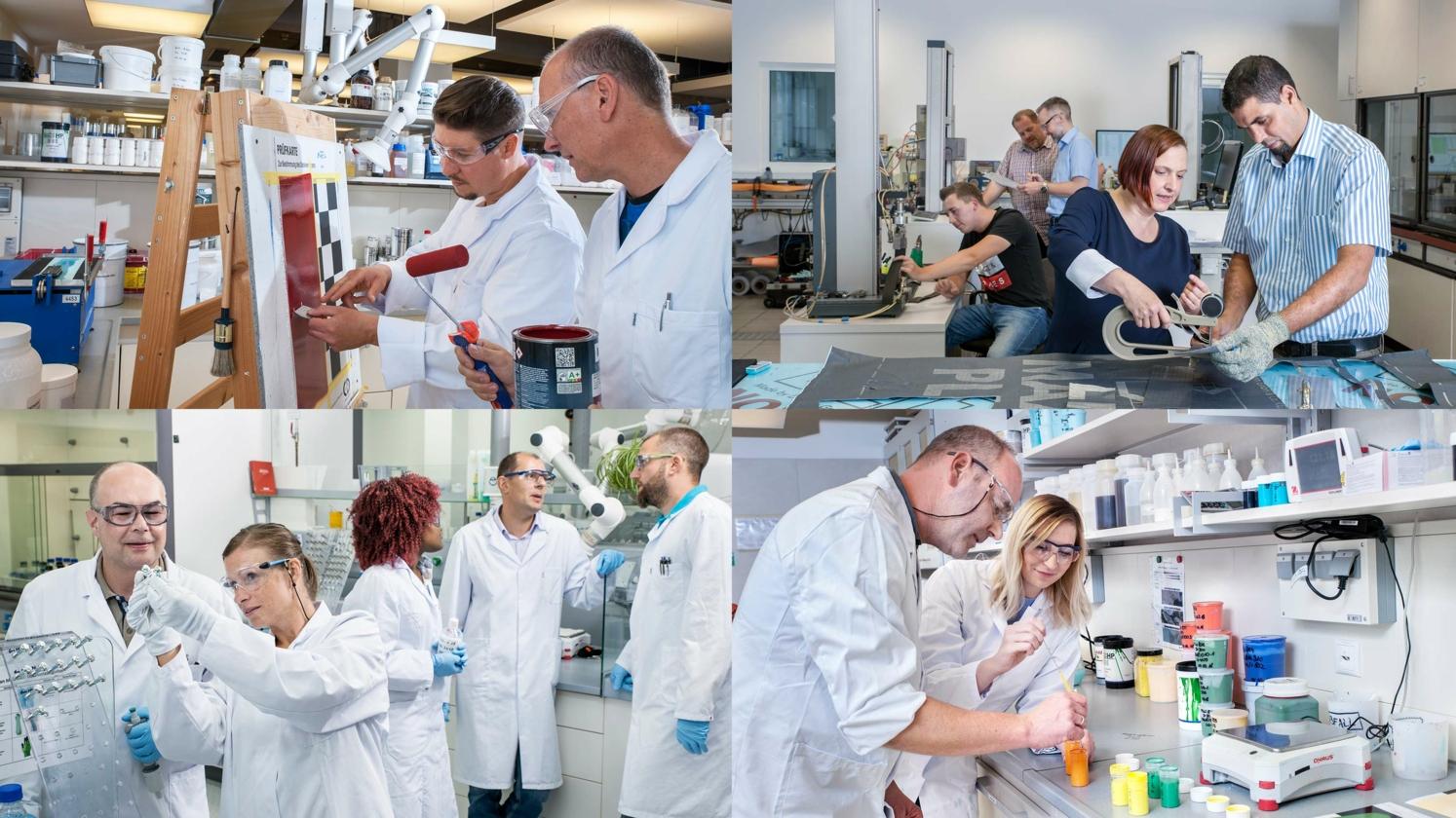Medewerkers in het laboratorium
